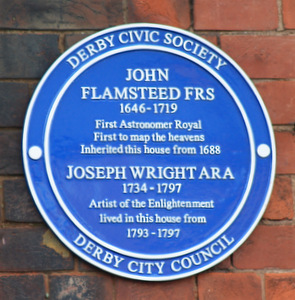 Joseph Wright of Derby's  blue plaque