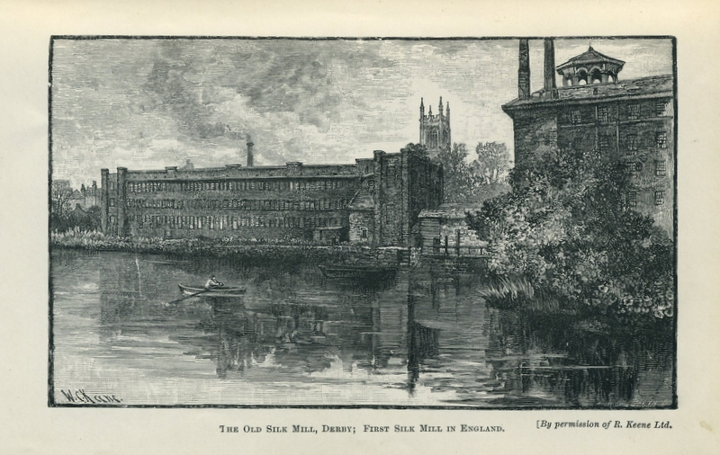 Engraving of Derby's Silk Mill