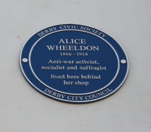 Alice Wheeldon's Blue Plaque
