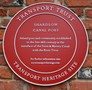 Shardlow Canal Plaque