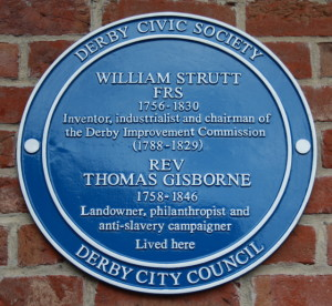 Sir Thomas Gisborne's shared blue plaque